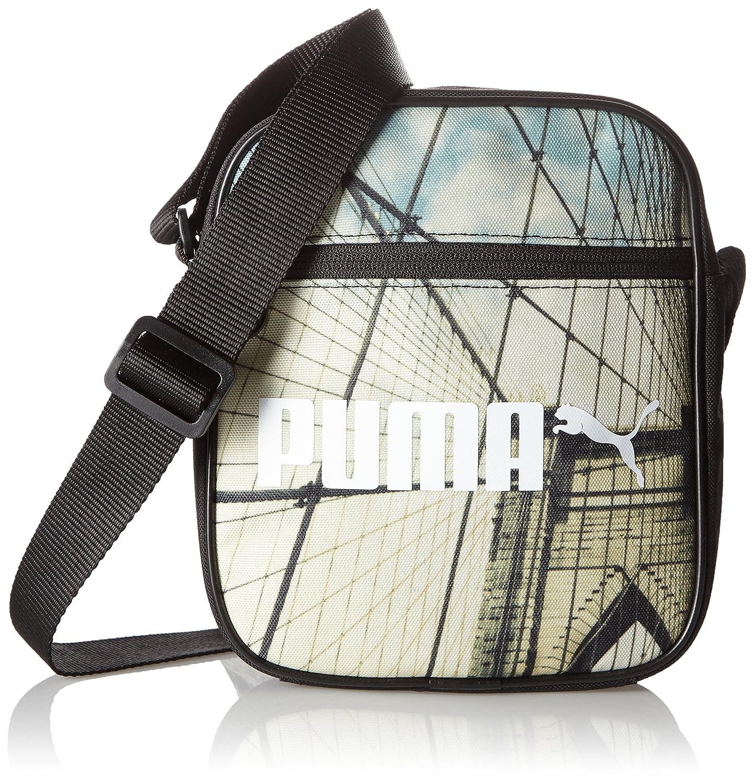 Puma - Bolso Bandolera 'Campus Portable', Unisex, Bolso Bandolera, Umhängetasche Campus Portable, Puma Black/Bridge Graphic, OSFA 074164 01