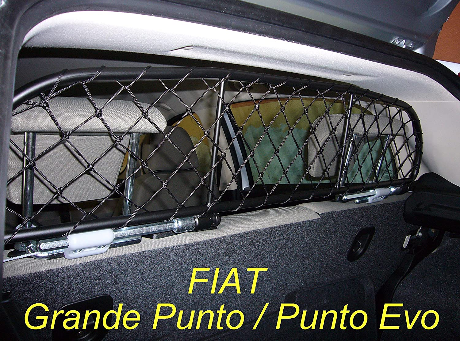 Dog Guard, Pet Barrier Net and Screen Ergotech RDA65-XXS for FIAT Grande Punto and Punto Evo, for Luggage and Pets