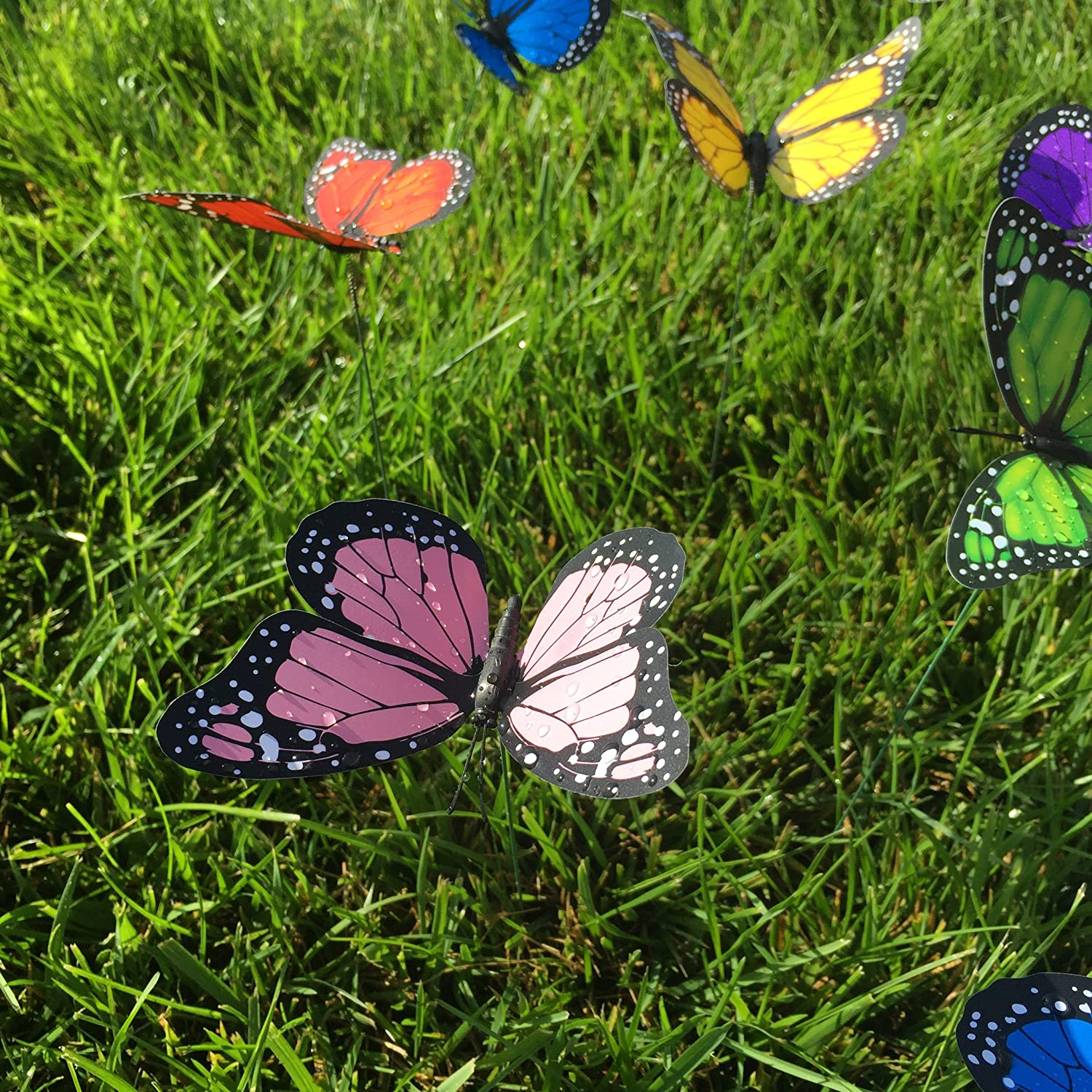 Amazon.com: Butterfly Garden Ornaments U0026 Patio Décor Butterfly Party  Supplies Butterfly Decorations For Garden U0026 Flo Butterfly Crafts 12 Pcs  Set: Toys U0026 ...