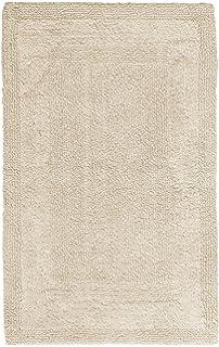 Pinzon Luxury Reversible Cotton Bath Mat   21 x 34 inch  IvoryAmazon com  Pinzon Luxury 100  Cotton Banded Bath Mat   White  . Luxury Bath Mat. Home Design Ideas