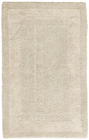 Pinzon Luxury Reversible Cotton Bath Mat   30 X 50 Inch, Ivory