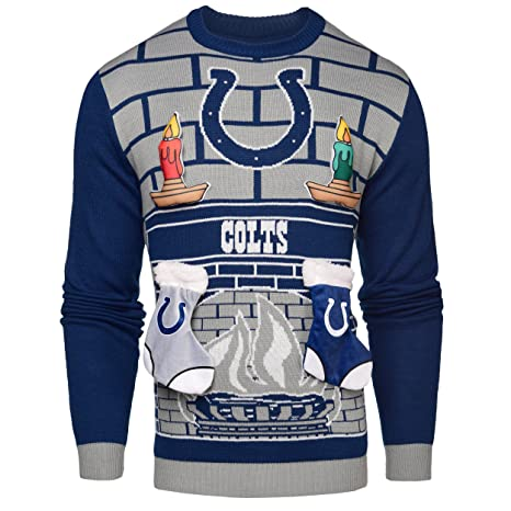 Colts amp; Sports Indianapolis Mens com Sweater Outdoors Ugly Small - 3d Amazon