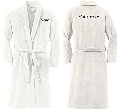 Personalized Plush Microfleece Robe with Embroidered Name   Back ... 5d7f30963