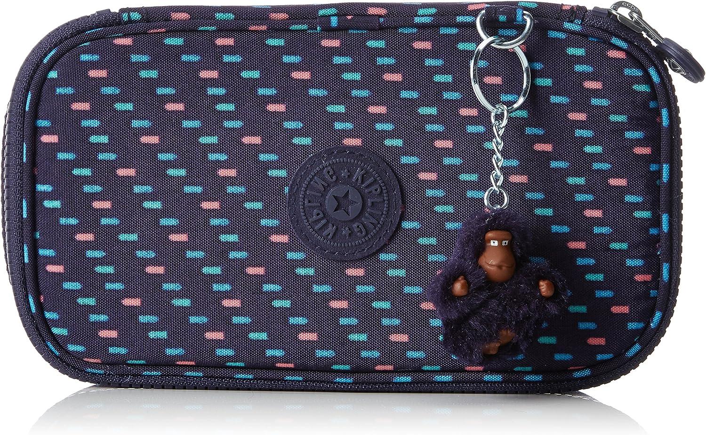 Kipling 50 Pens Estuches, 21 cm, 1 liters, Varios colores (Blue Dash C): Amazon.es: Equipaje