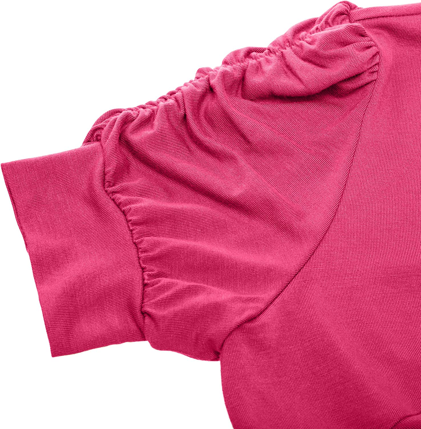 Made in USA Womens Shoulder Shrugs Reg and Plus Size Ruched Short Sleeve Boleros for Dresses