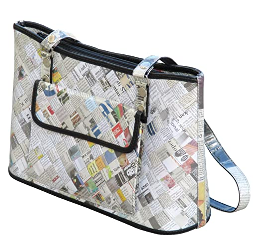Handbag Made of Recycled Newspaper