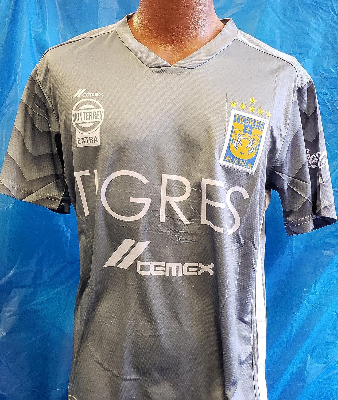 新しい。Liga MX Club Deportivo Tigresグレー2ピースサイズLarge   B07DXHW8DH