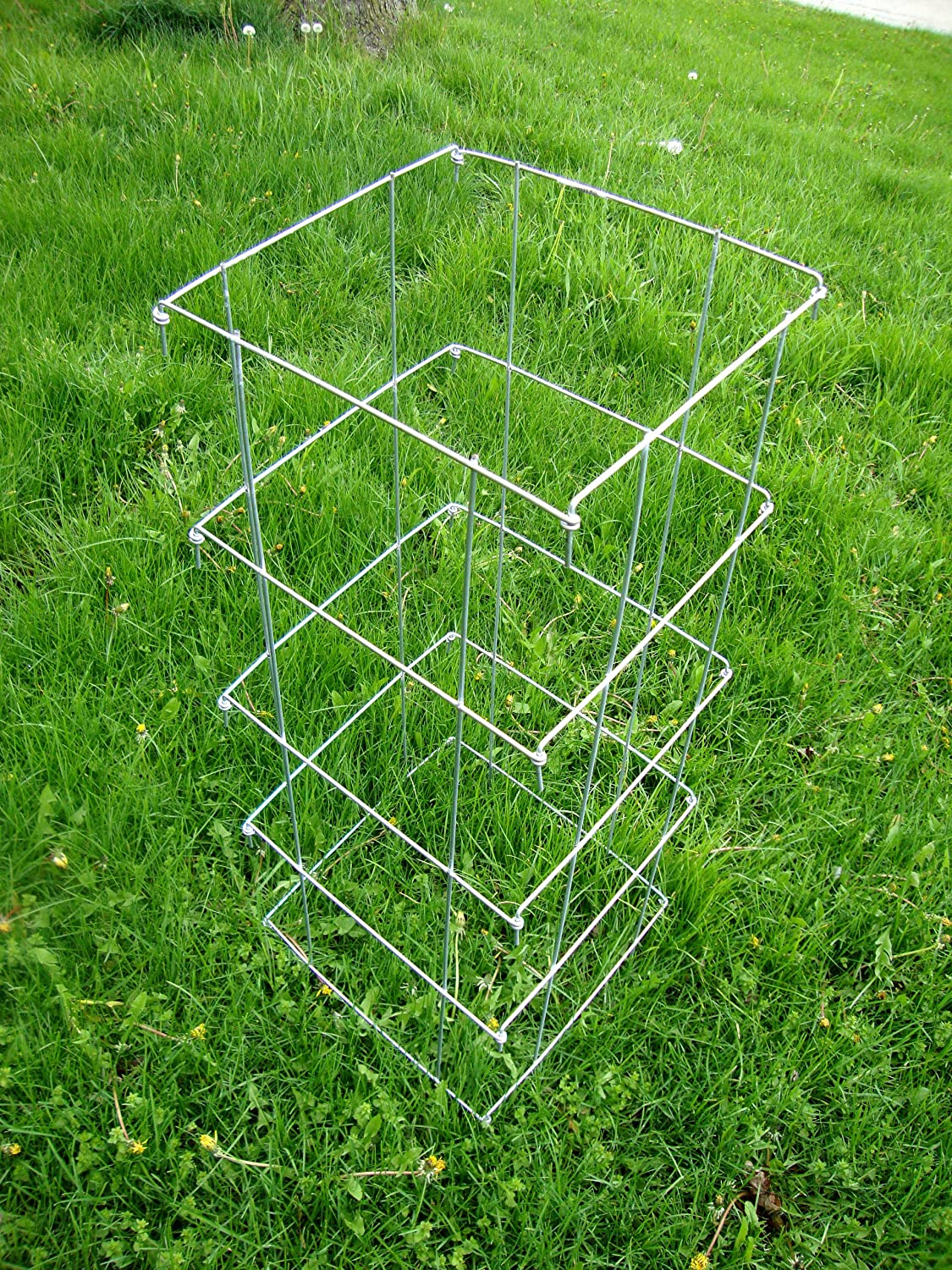 Cassie s Cages- Heavy Duty Square Collapsible Tomato Cage 8400X