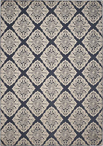 Safavieh Cottage Collection COT907A Navy and Cream Area Rug 8 x 11 2