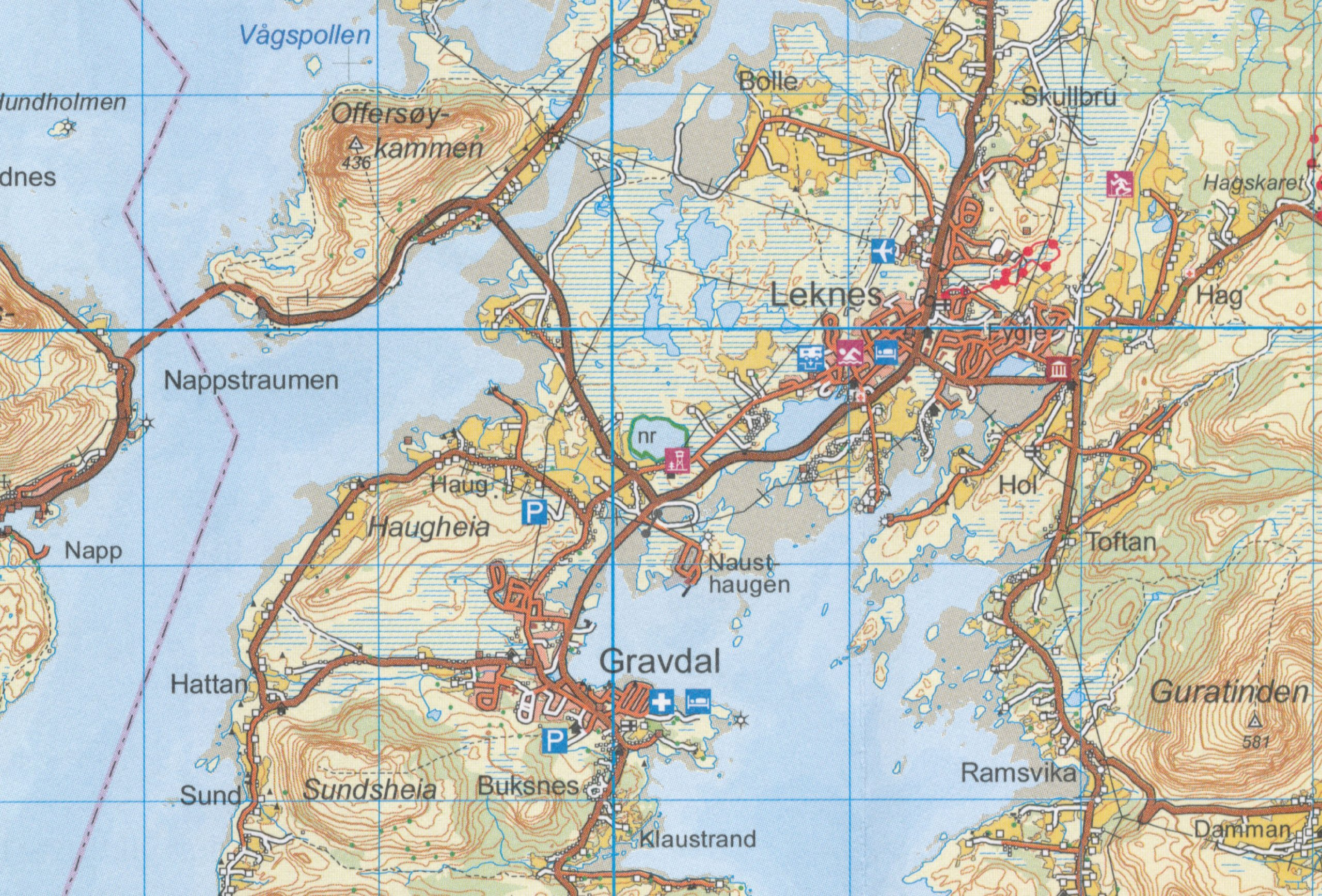 Lofoten Norway Topographic Map GPScompatible - Norway topographic map