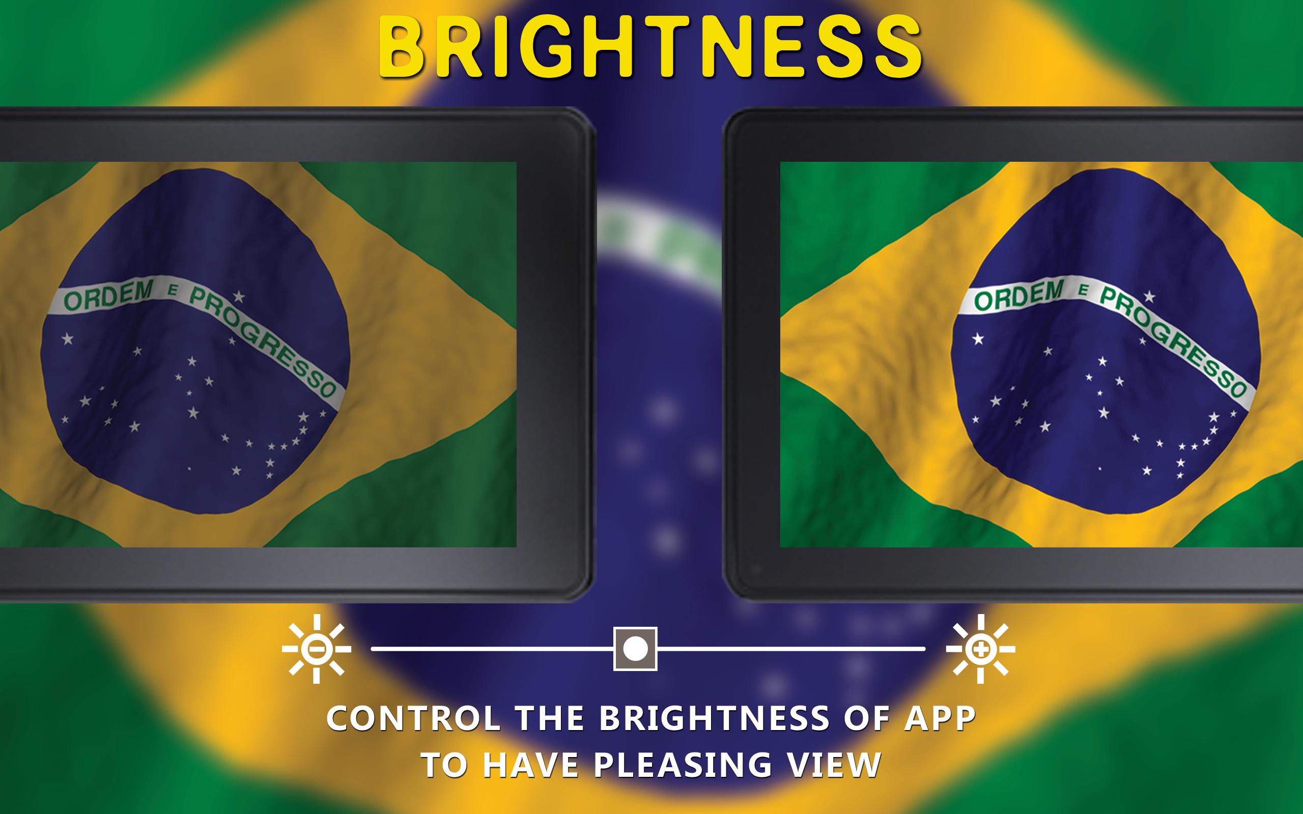 Impresionante bandera brasileña gratis: una aplicación