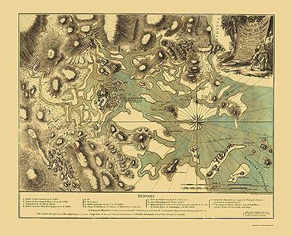 Amazon.com: Old Revolutionary War Map - Boston Harbor ...