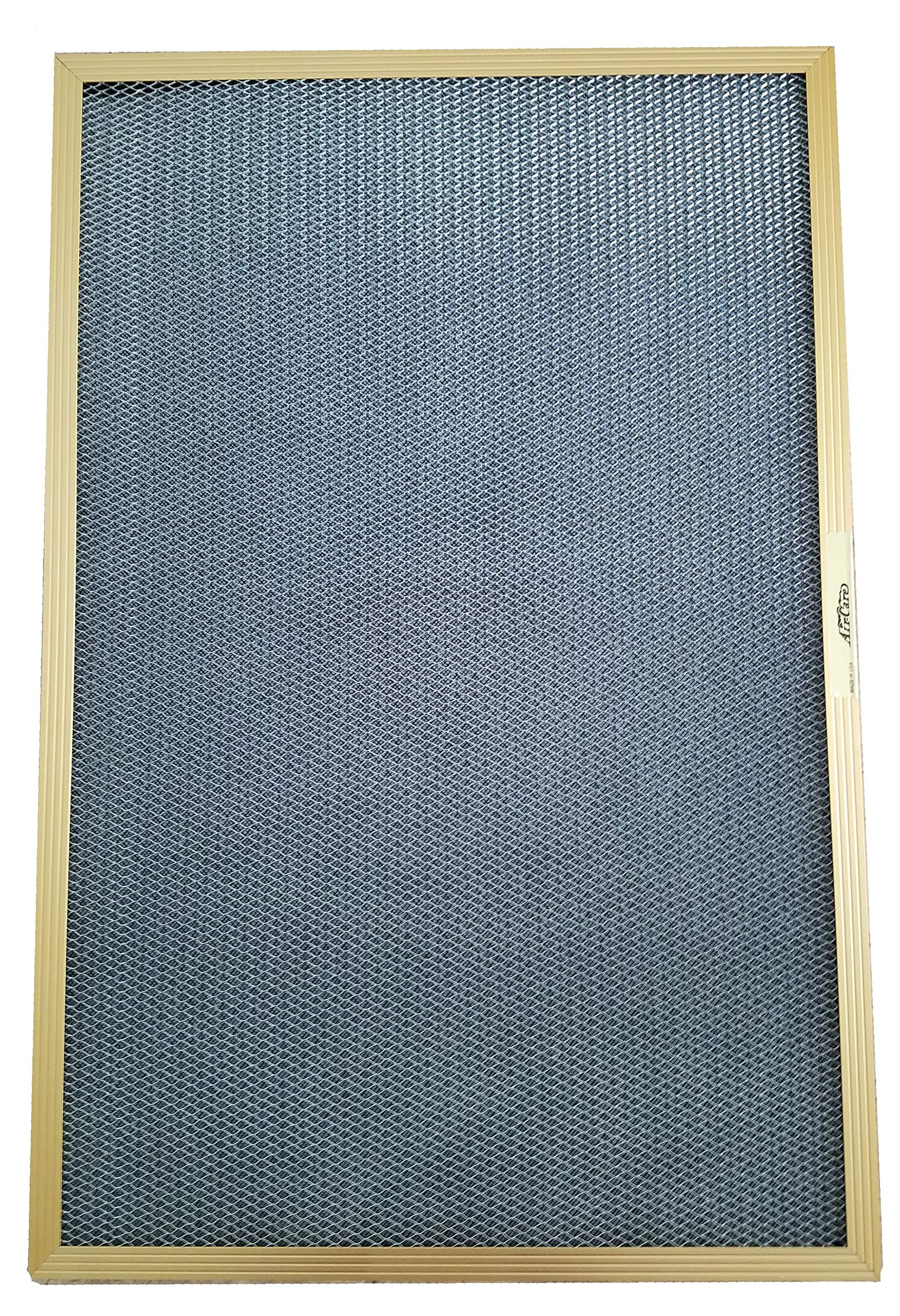 16x30x1 Electrostatic Washable Permanent A/C Furnace Air Filter - Reusable - GOLD FRAME by AirCare