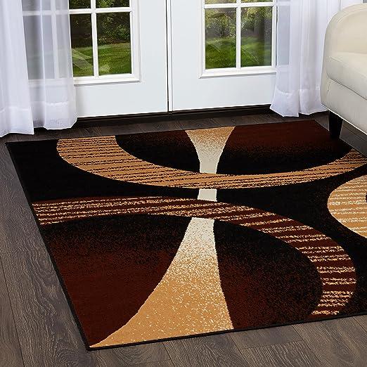 Amazon Com Home Dynamix Premium Indus Modern Area Rug Ebony Multi 5 2 X7 4 Rectangle Furniture Decor