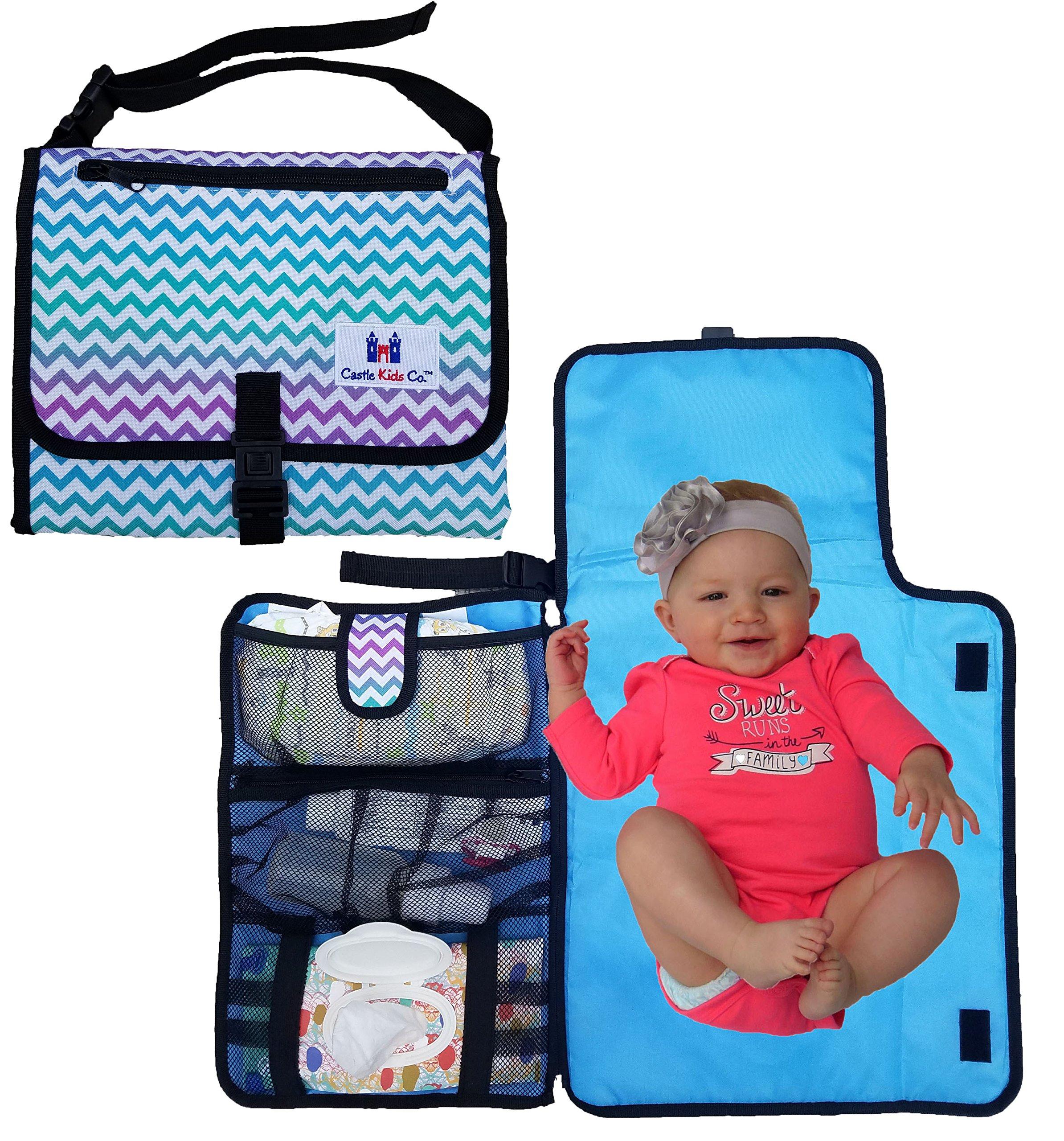 b0128a0a898b Amazon.com   Castle Kids Co Diaper Changing Pad - Luxury Clutch ...