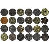24-Variety Super Deluxe Loose Leaf Tea Sampler Gift Set w/ Green, Black, Oolong, White, Herbal, Pu'er and Flavored Gourmet Teas