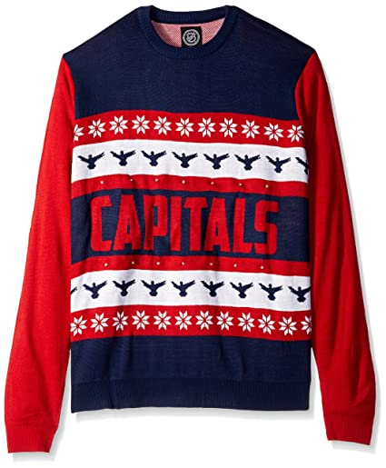 6b6e9b2de Amazon.com : Washington Capitals One Too Many Light Up Sweater - Mens Extra  Large : Sports & Outdoors