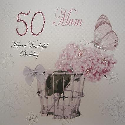 White Cotton Cards - Tarjeta de felicitación para 50 ...