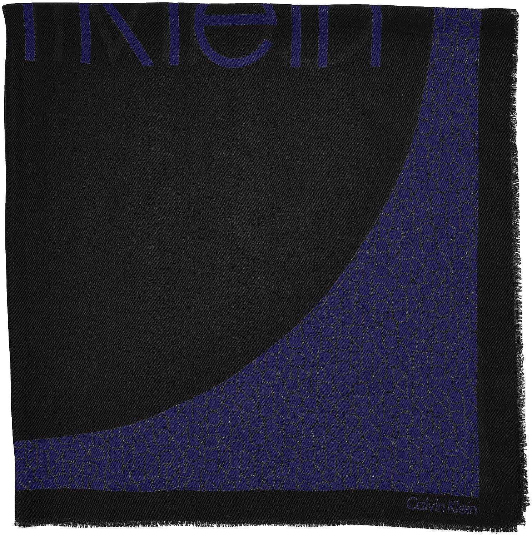 Calvin Klein Jeans Joyce Scarf, Châle Femme, Noir (Black), Taille Unique   Amazon.fr  Vêtements et accessoires 022b02d25fd