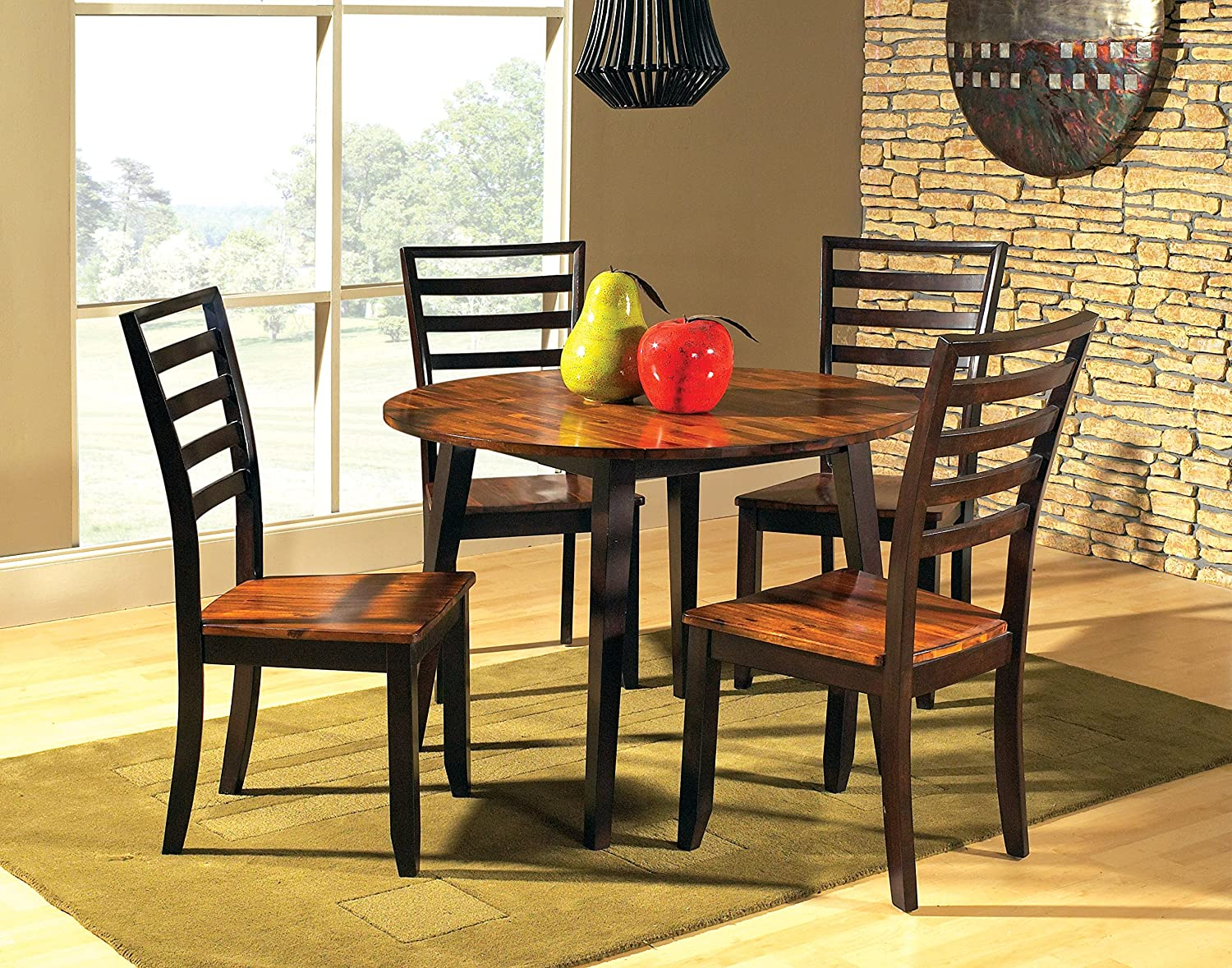 amazon com steve silver company abaco double drop leaf table