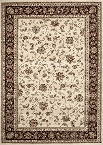 Traditional Isphahan Ivory 3 3 X 5 Area Rug