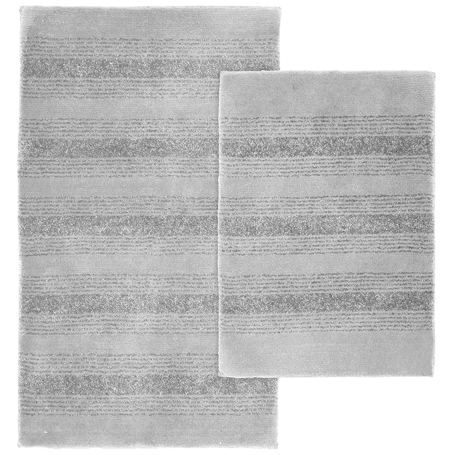 Amazoncom Garland Rug Piece Essence Nylon Washable Bathroom - Black and white tweed bath rug for bathroom decorating ideas