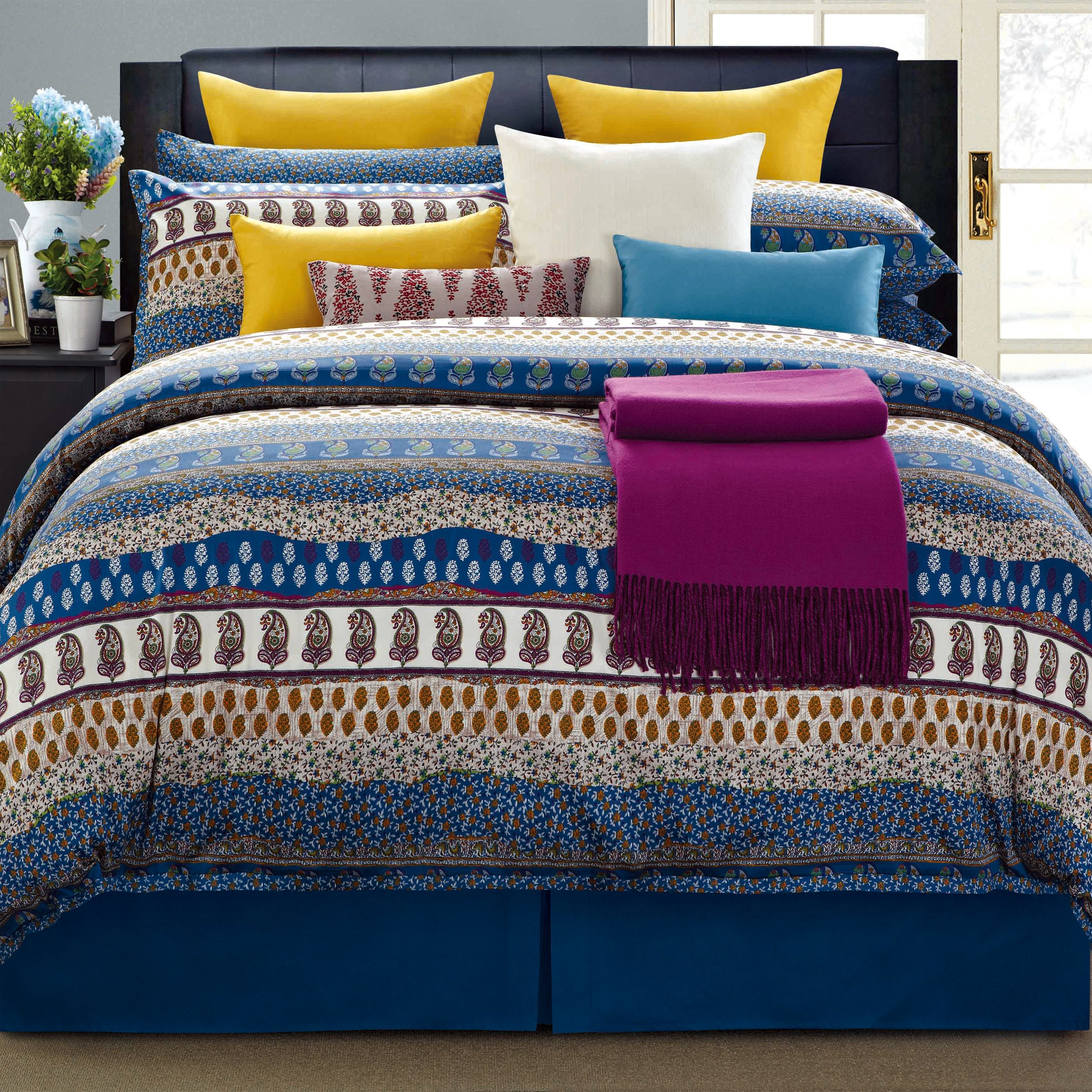 EverRouge 8-Piece Aladdin Cotton Bed in a Bag, California King