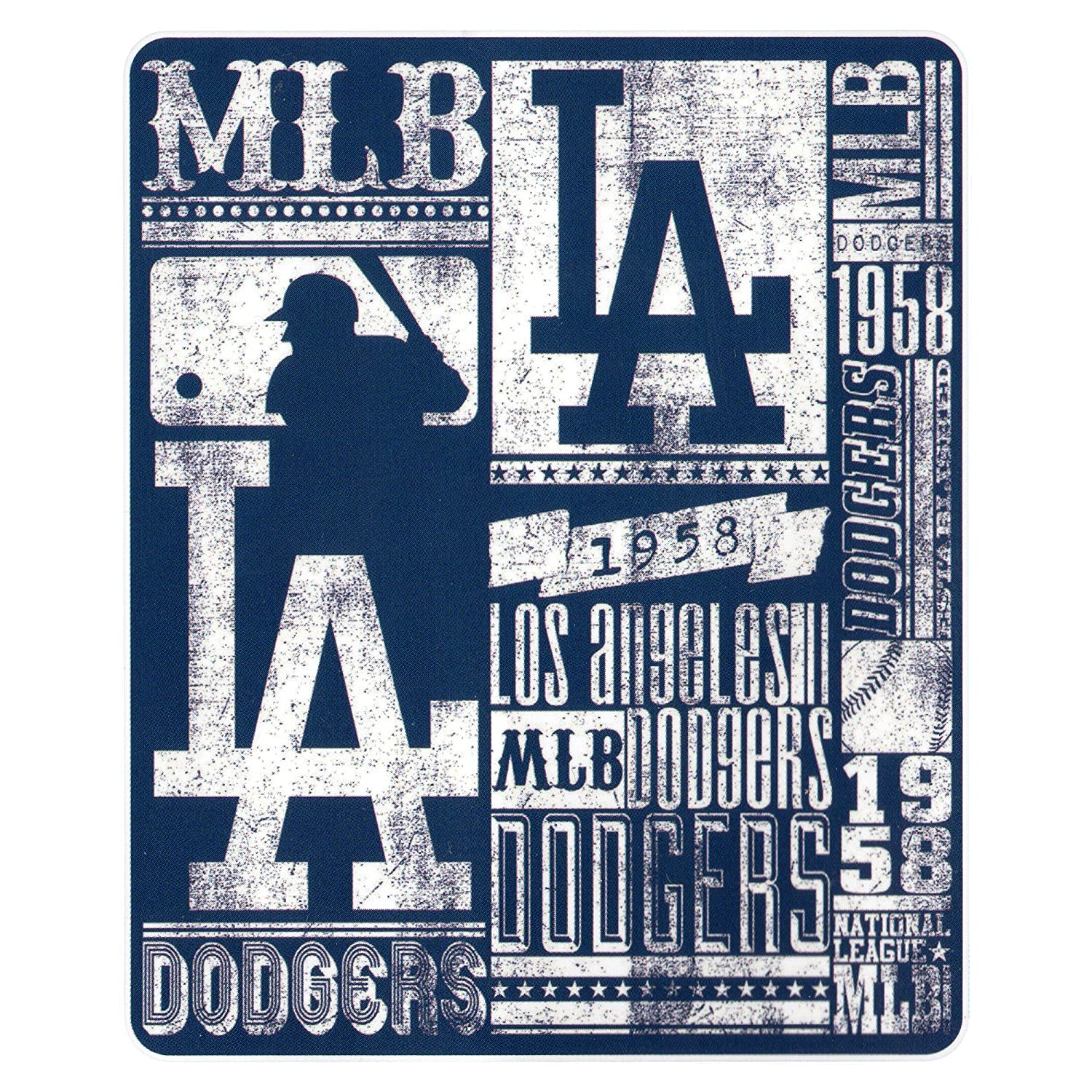 Los Angeles Dodgers 50x60 Fleece Blanket - Strength Design