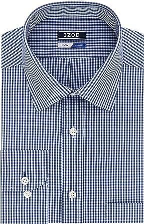 Izod Dress Shirt Regular Fit Stretch Check Camisa de Vestir para Hombre: Amazon.es: Ropa y accesorios