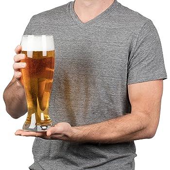 amazon com oversized extra large giant beer glass 53oz holds