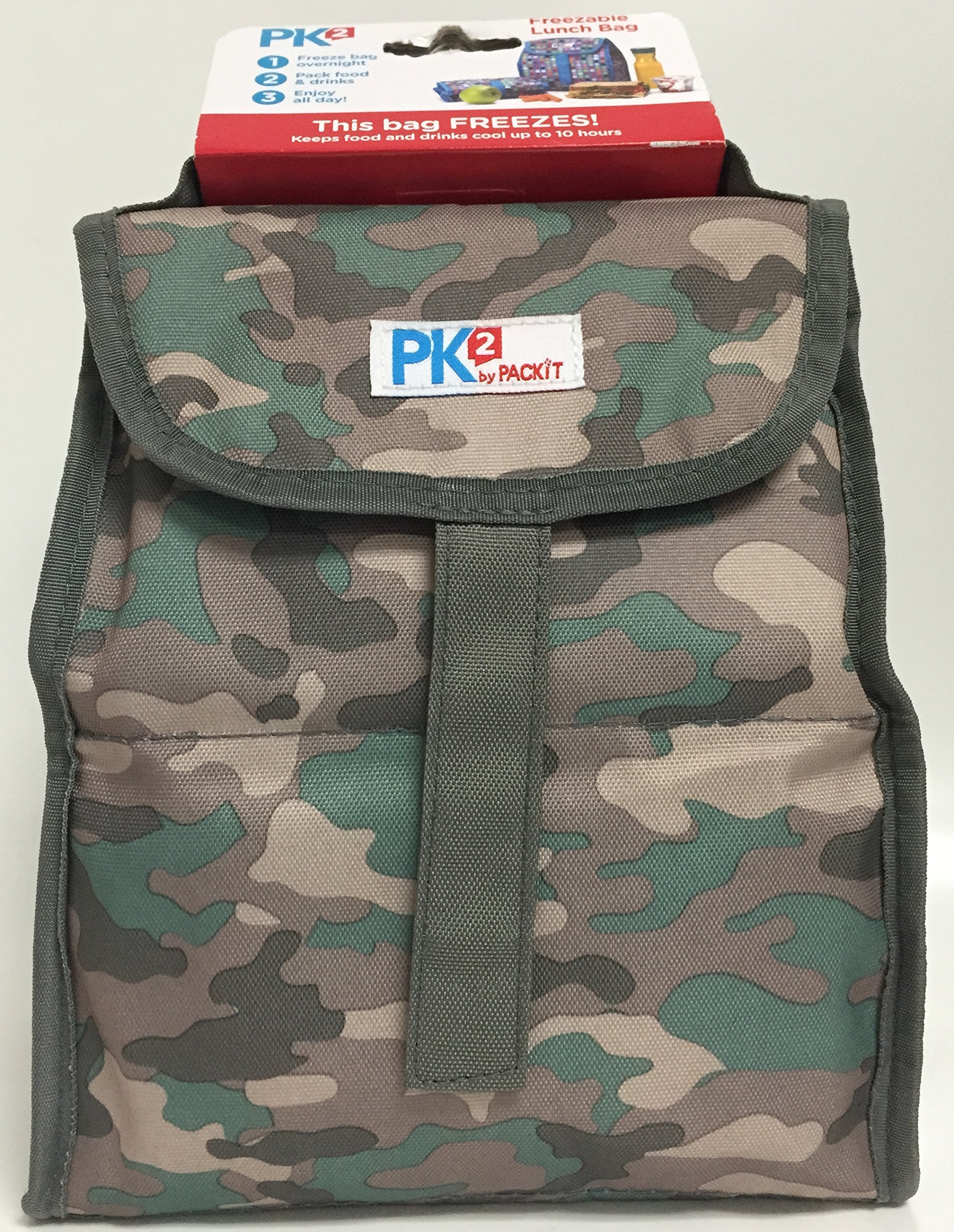 PackIt Freezable (Green Camo) Lunch Bag, One Size