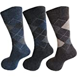 RC. ROYAL CLASS Men's Woolen Thick Towel Multicolored Formal Socks (Pack of 3 Pairs)
