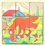 Wooden Cube 3D Puzzle - Farm Animal | Wooden