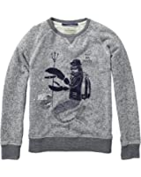 Scotch & Soda Shrunk Jungen Sweatshirt Crewneck with Patches