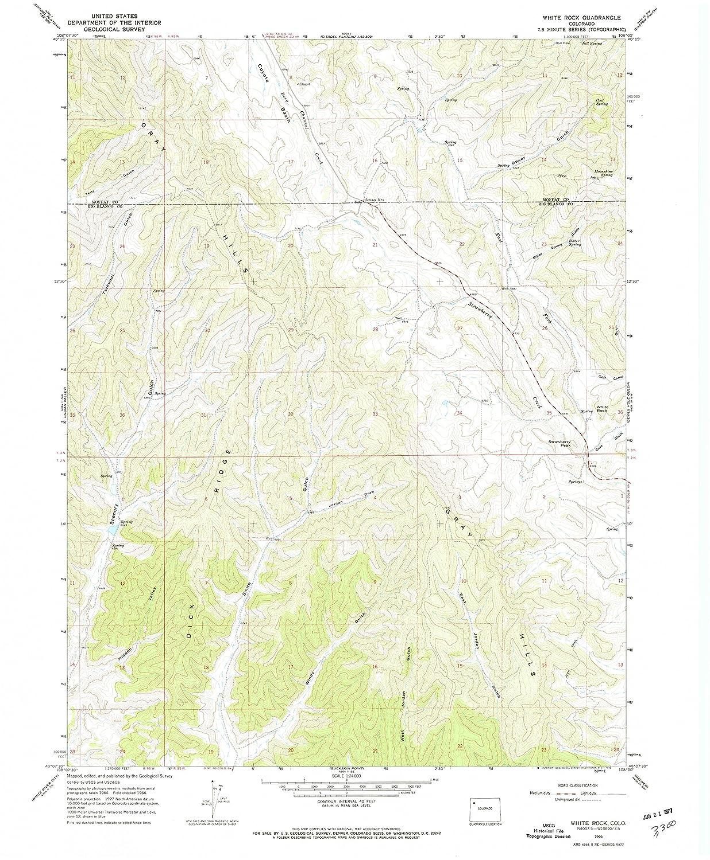 Amazon.com : YellowMaps White Rock CO topo map, 1:24000 Scale, 7.5 X ...
