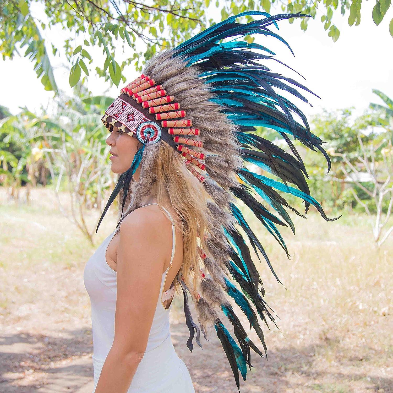 amazon com novum crafts feather headdress native american