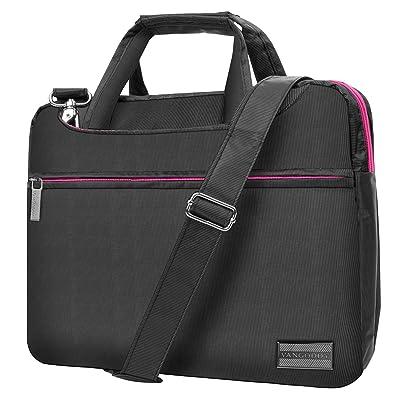 """Slim Lightweight Rose Pink VanGoddy Nylon Laptop Messenger Bag Suitable for VAIO Z Flip / VAIO S / VAIO Z / VAIO Z Canvas / 11""""-13.5inch"""