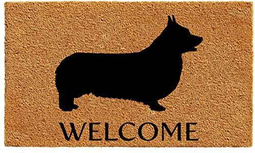 Calloway Mills AZ105612436 Pembroke Welsh Corgi Doormat, 24 x 36 , Natural Black