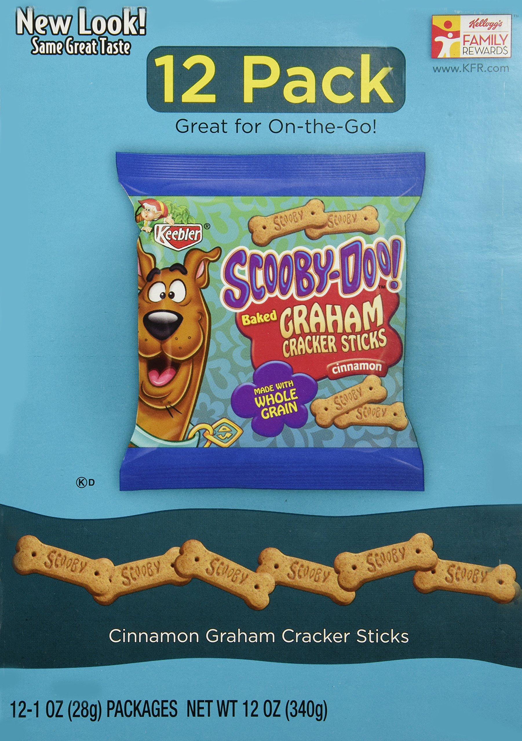 Keebler Scooby-Doo Graham Cracker Sticks, Cinnamon, 12 ct