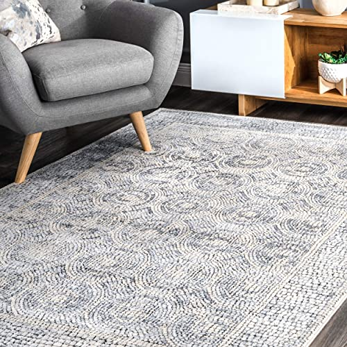 nuLOOM Camilla Vintage Area Rug, 5 3 x 7 6 , Light Grey