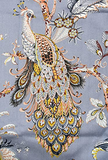 Kitchen Curtains bird kitchen curtains : Amazon.com: Tahari Home Window Curtains Peacock Jacobean Birds ...