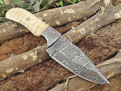 Amazon.com: 7.7 inch Blanco Hueso sturl Skinner Cuchillo con ...