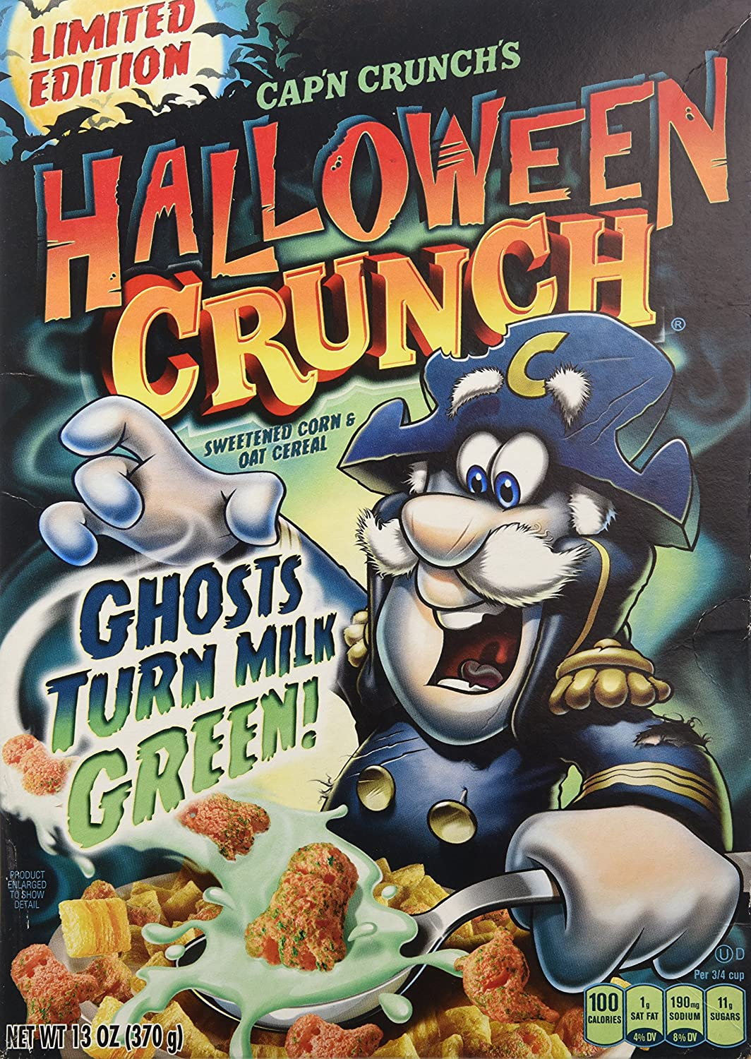 Amazon.com: Cap'n Crunch's Halloween Crunch Ghosts Turn Milk GREEN ...