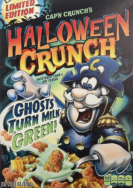 Halloween Crunch 2020 Amazon.com: Cap'n Crunch's Halloween Crunch Ghosts Turn Milk GREEN
