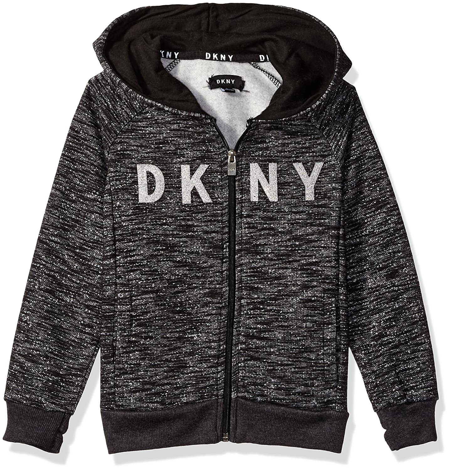 DKNY Boys' Marled Fleece Zip Front Hoody DB_0379