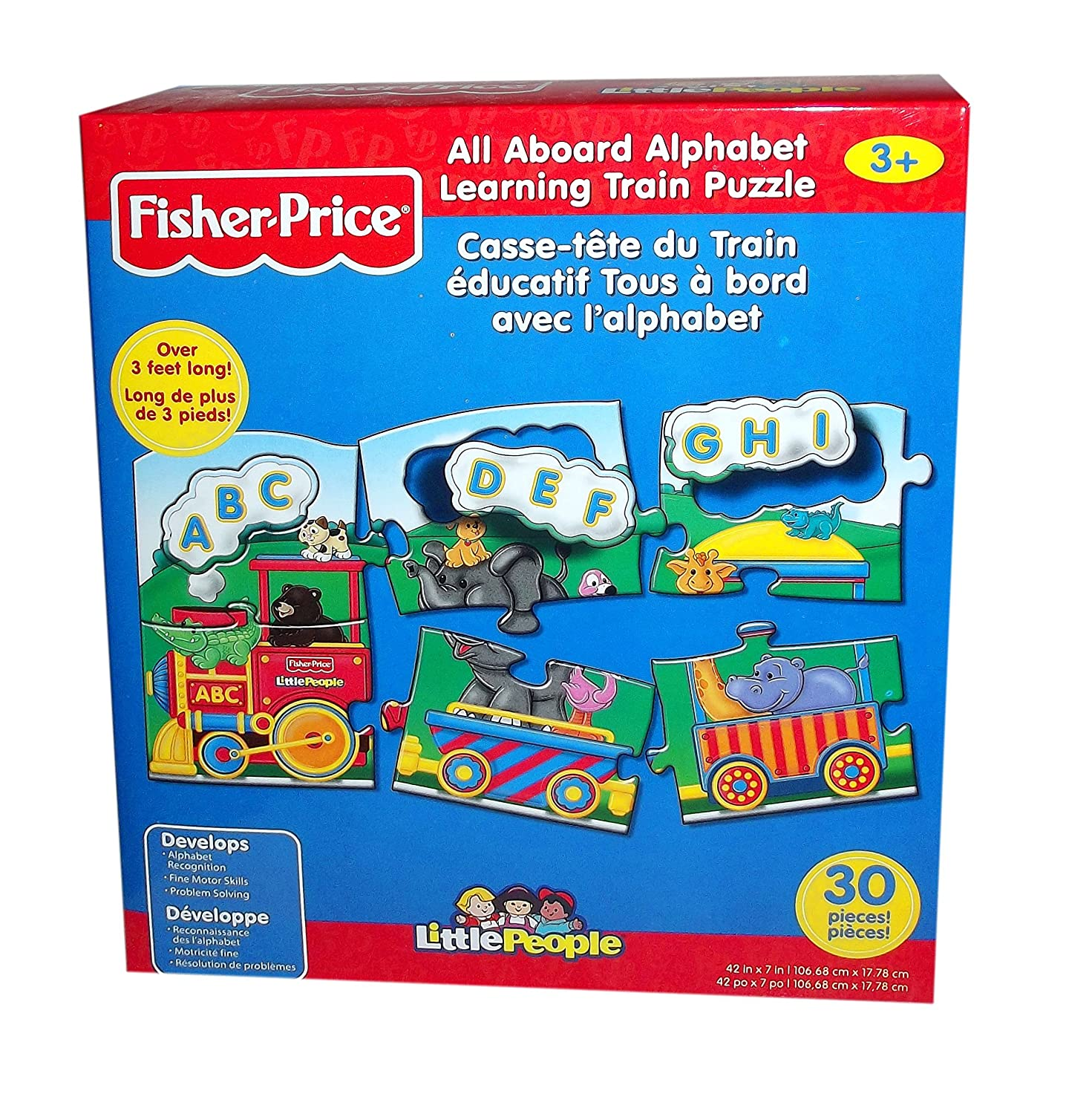 Fisher-Price All Aboard Alphabet/Numbers Learning Train Jigsaw ...