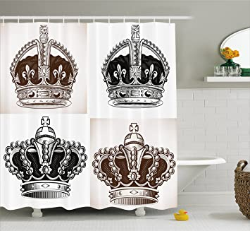 Amazon.com: Antique Shower Curtain by Ambesonne, Abstract Artwork of on crown bedroom accessories, crown car accessories, crown curtain holder, crown of light, crown desk accessories, crown sinks, crown home accessories,