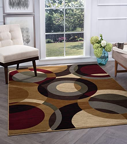 Tayse Verona Multi-Color 5x8 Rectangle Area Rug
