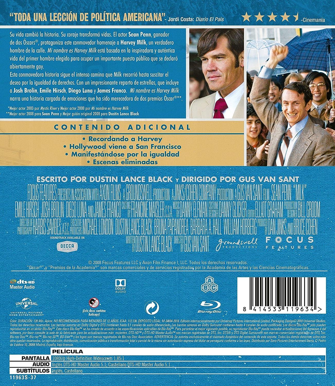 Milk Mi Nombre Es Harvey Milk Non Usa Format Movies Tv
