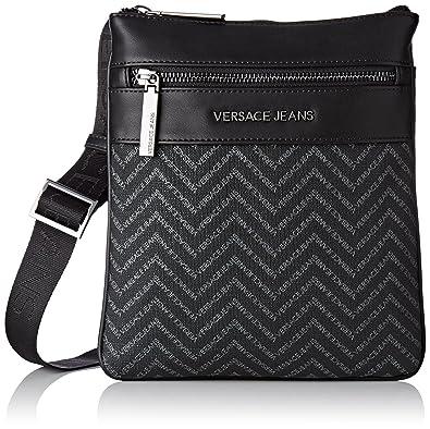 Versace Jeans Ee1yqbb15 e77220, Men s Messenger Bag, Nero, 1x24x21,5 cm (W c633fa7c73